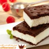 طرز تهیه ی کیک بستنی شکلاتی