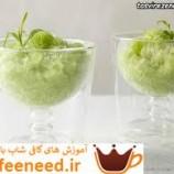 تهیه یخ در بهشت خربزه (گرانیتا خربزه) نوشیدنی تابستانی